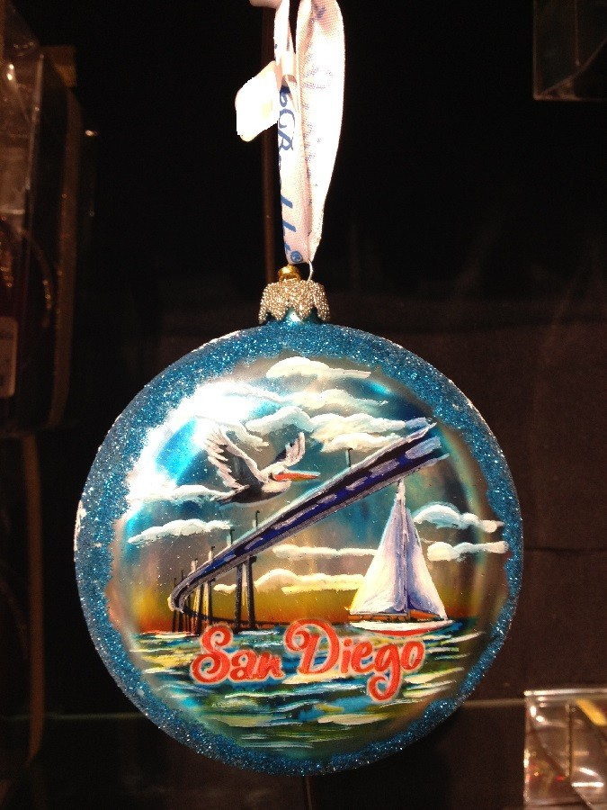 Blog  City Lights Product Spotlight San Diego Glass Ornament